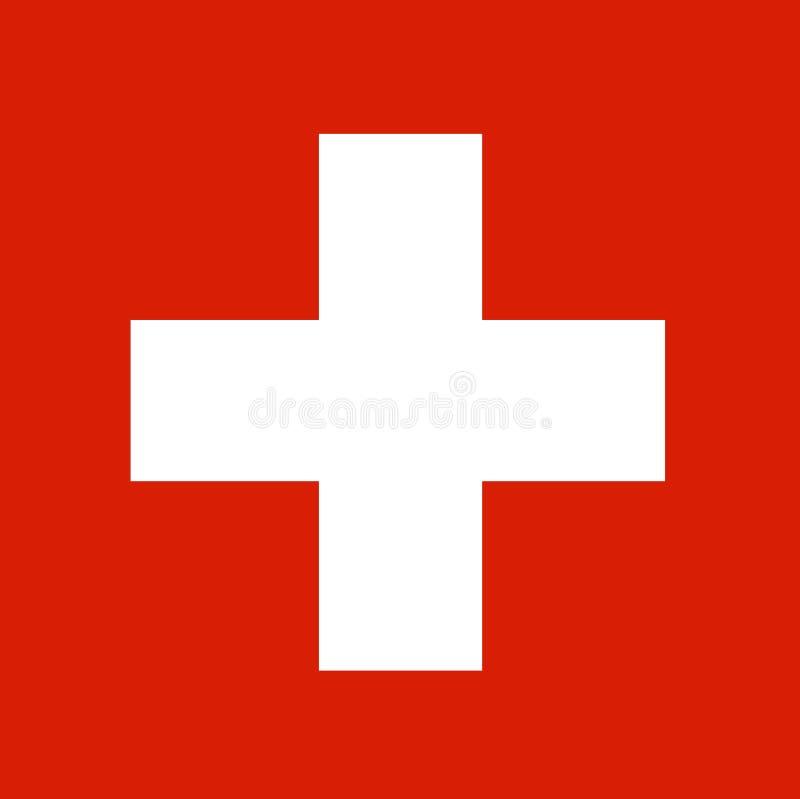 Bandera nacional Suiza, fondo para los redactores y los diseñadores Festividad nacional ilustración del vector