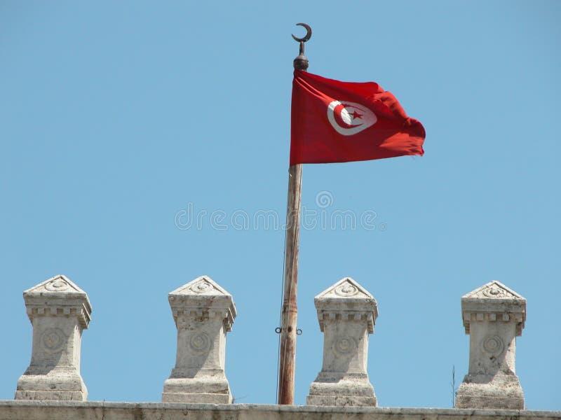 Bandera nacional tunecina imagen de archivo