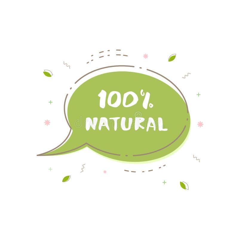 Bandera natural del 100% Ilustración del vector stock de ilustración