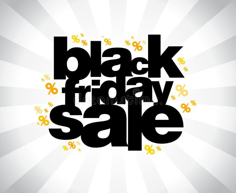 Bandera negra de la venta de viernes. ilustración del vector