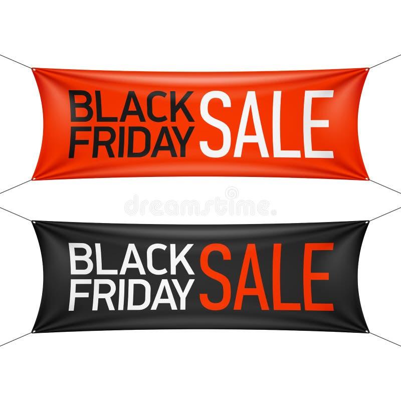 Bandera negra de la venta de viernes ilustración del vector