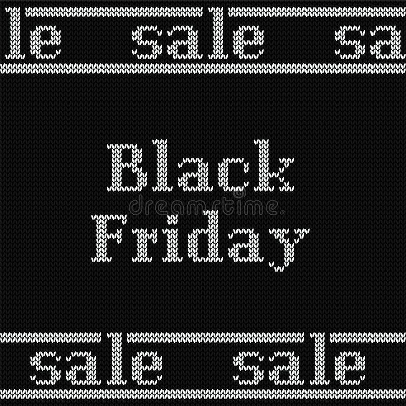 Bandera negra de la venta de viernes Ilustración del vector ilustración del vector