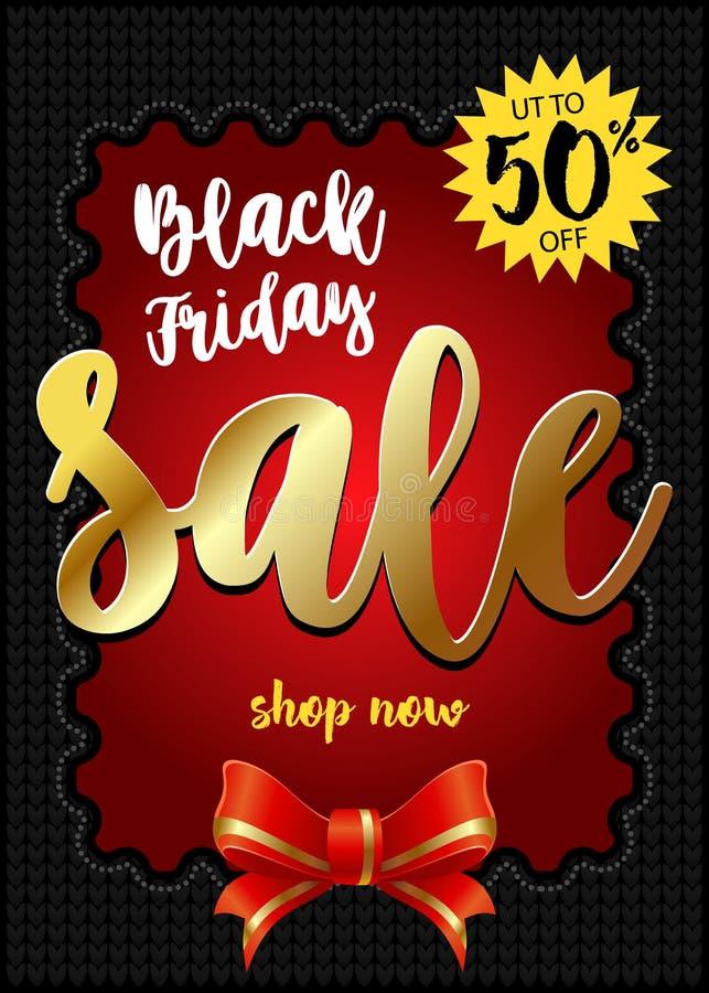 Bandera negra de la venta de viernes La mejor venta Vector stock de ilustración