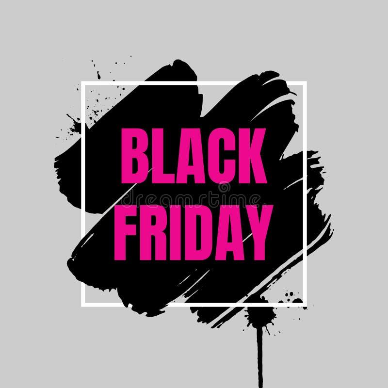 Bandera negra de la venta de viernes Plantilla abstracta del fondo del grunge ilustración del vector