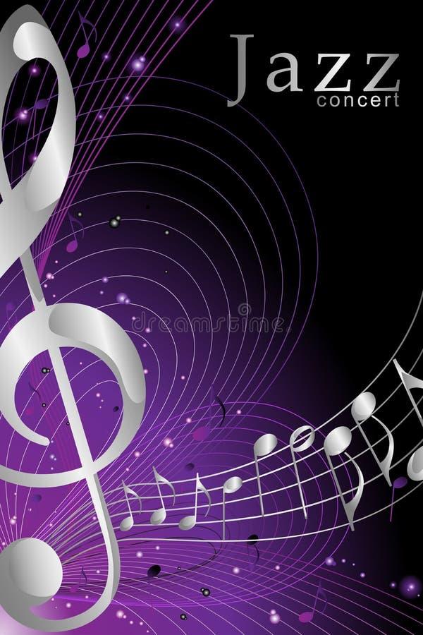 Bandera o cartel para Jazz Music Concert Illustration ilustración del vector