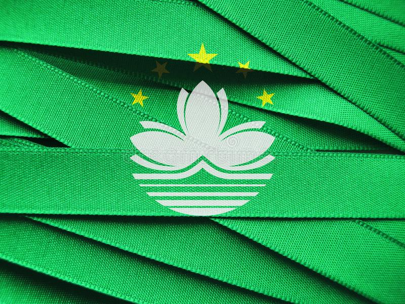 Bandera o bandera de Macao fotografía de archivo