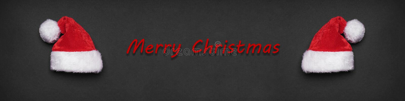 Bandera o jefe del saludo de Navidad de la Feliz Navidad foto de archivo libre de regalías
