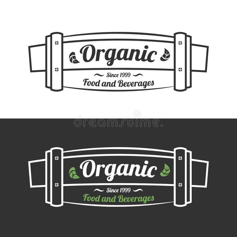 Bandera o muestra del alimento biológico libre illustration