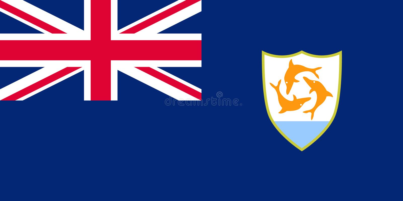Bandera oficial del vector de Anguila ilustración del vector