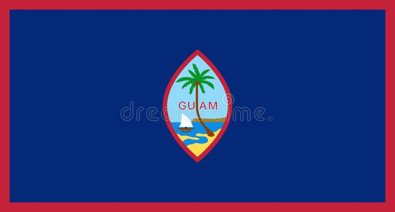 Bandera oficial del vector de Guam stock de ilustración
