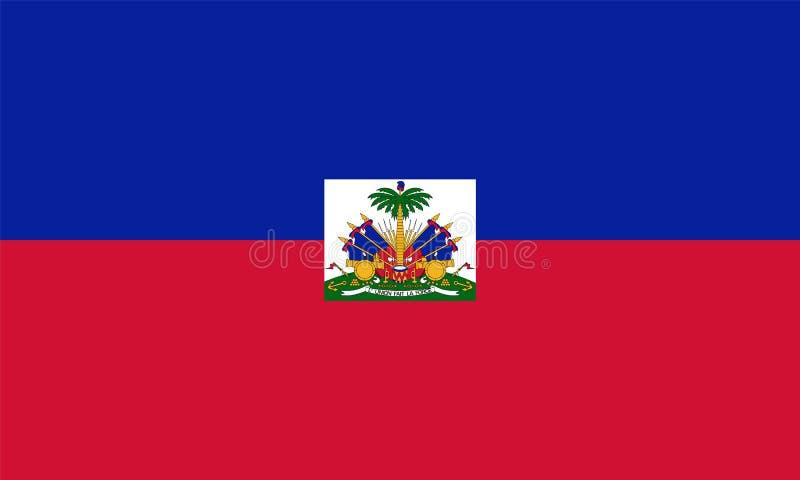 Bandera oficial del vector de Haití stock de ilustración