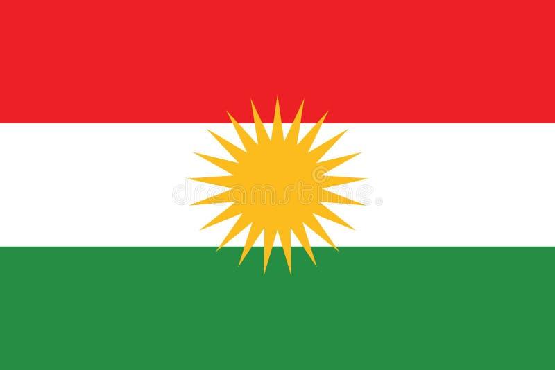 Bandera oficial del vector de la región autónoma del Kurdistan iraquí ilustración del vector