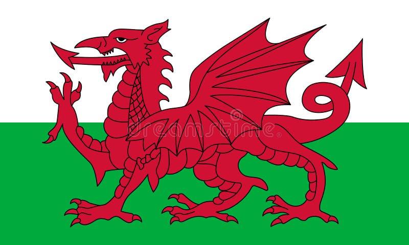Bandera oficial del vector de País de Gales libre illustration