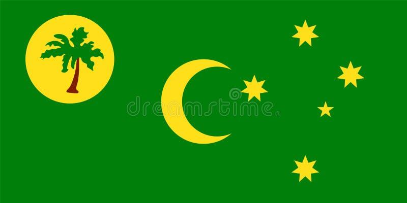 Bandera oficial del vector del territorio de los Cocos Keeling stock de ilustración