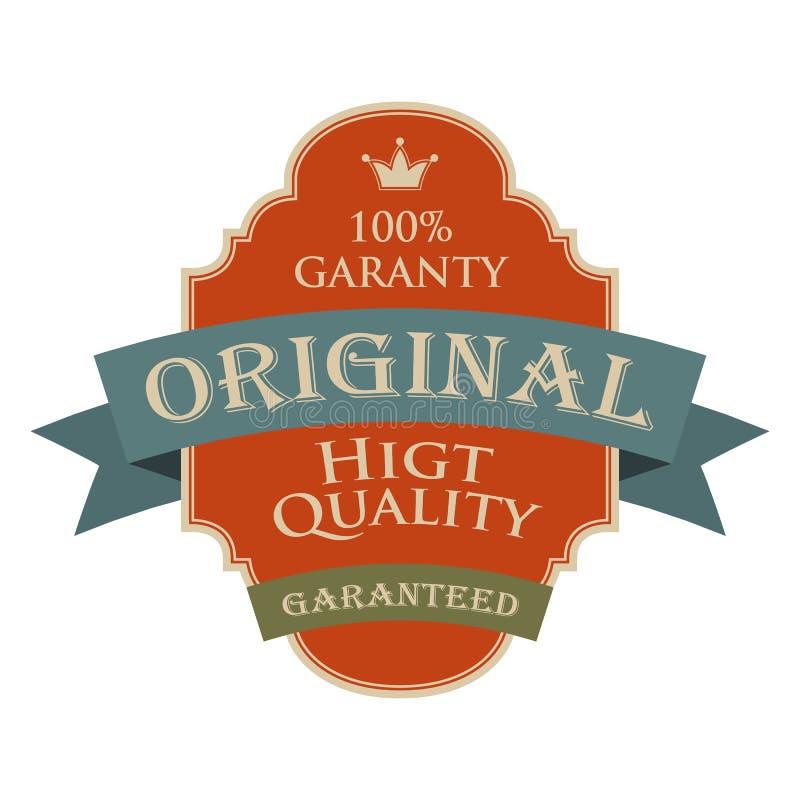 Bandera original del diseño del vintage de la calidad ilustración del vector