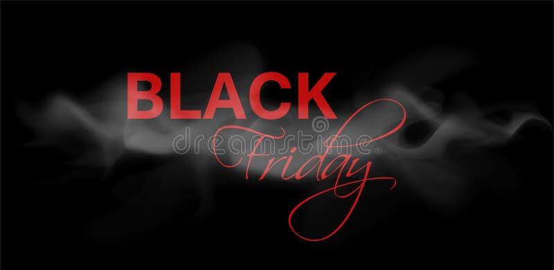 Bandera oscura del web para la venta negra de viernes ilustración del vector