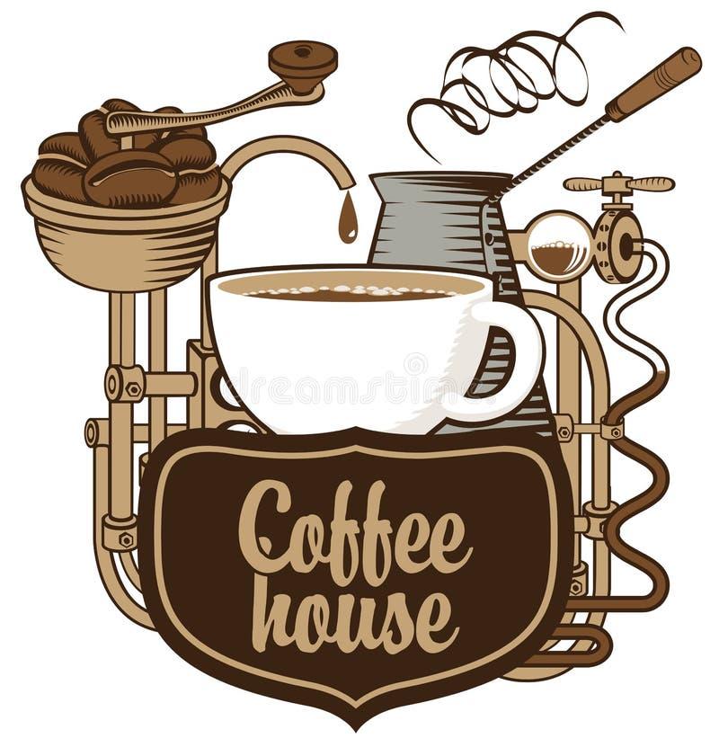 Bandera para el café stock de ilustración
