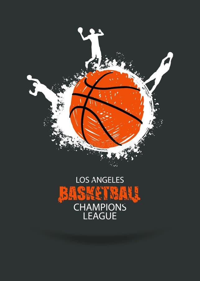 Bandera para el campeonato del baloncesto stock de ilustración