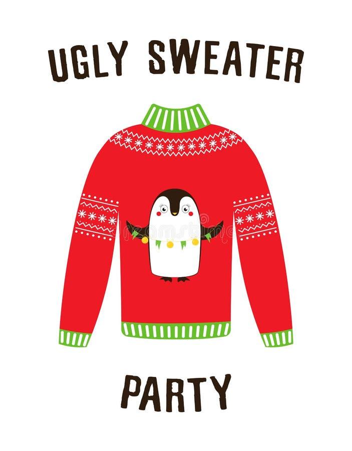 Bandera para el partido feo del suéter libre illustration