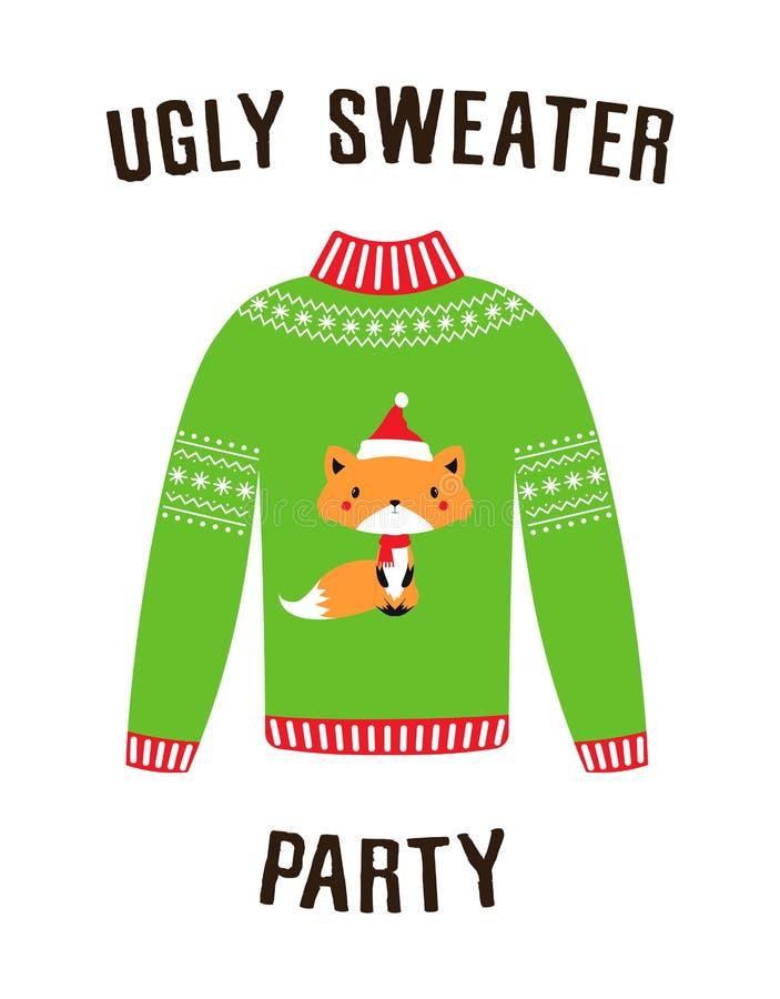 Bandera para el partido feo del suéter stock de ilustración