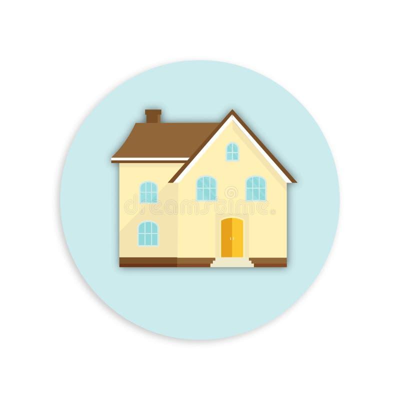 Bandera para las ventas, haciendo publicidad de la casa, cabaña Oferta del purc casero ilustración del vector