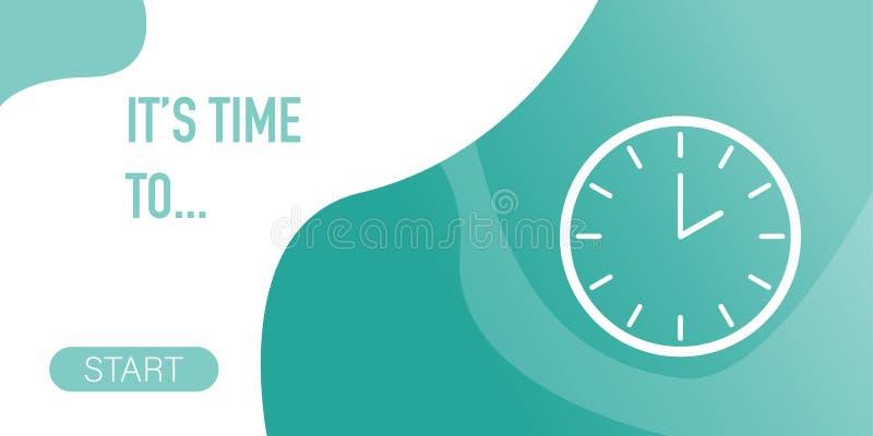 Bandera para presentar las ideas relacionadas para medir el tiempo stock de ilustración