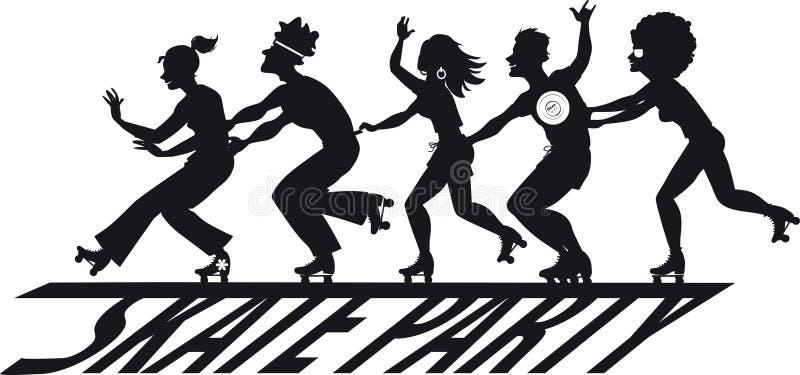 Bandera patinadora del partido libre illustration
