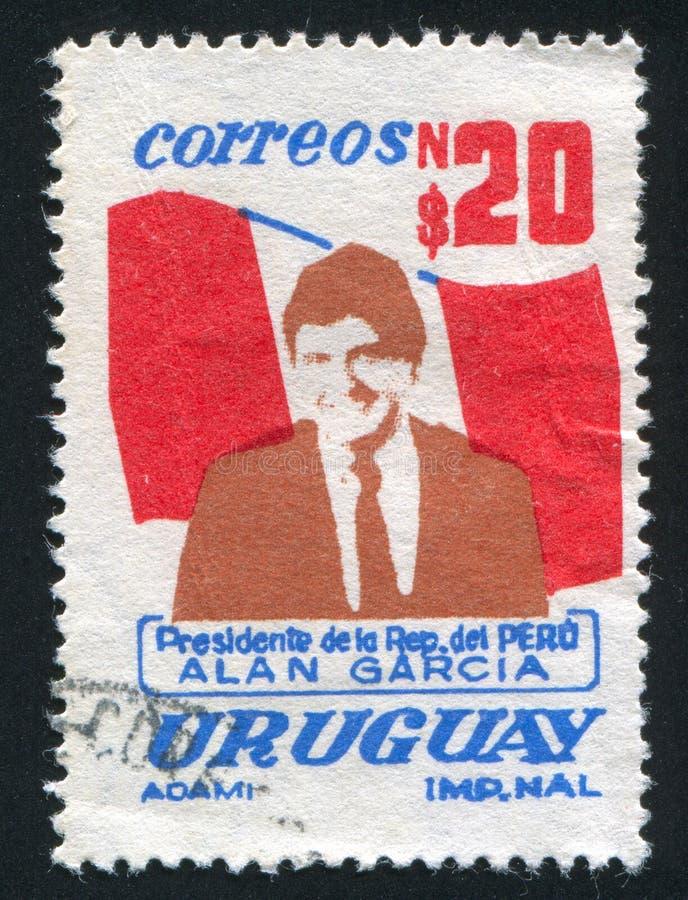 Bandera peruana imagen de archivo