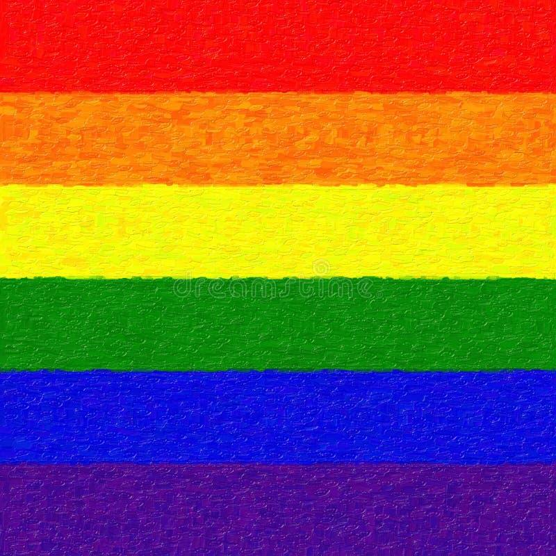 Bandera pintada del arco iris foto de archivo libre de regalías