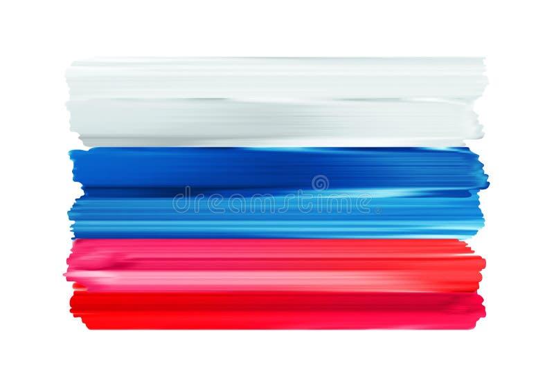Bandera pintada movimientos coloridos del cepillo de Rusia libre illustration
