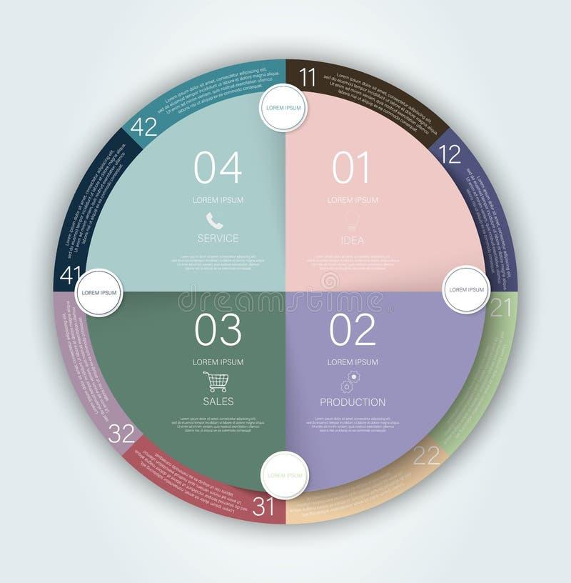 Bandera plana Concepto del informe de Infographic Vector de la plantilla de la presentación del negocio Disposición de la plantil stock de ilustración