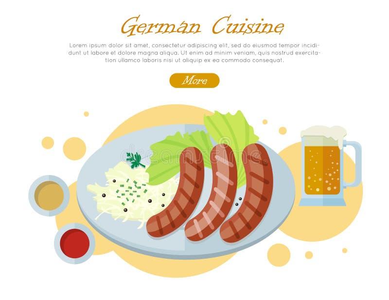Bandera Plana Del Web Del Vector Del Diseño De La Cocina Alemana ...
