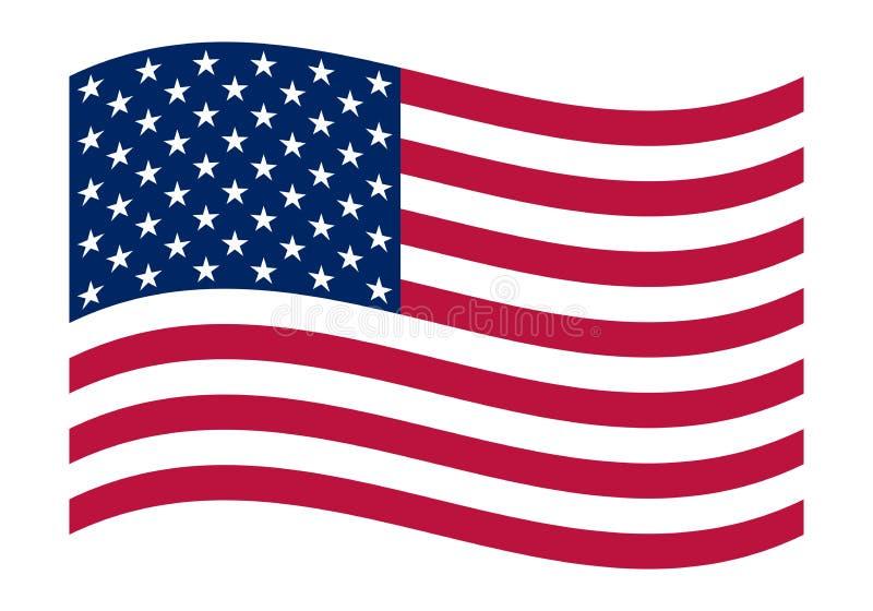 Bandera política nacional de los E.E.U.U. del funcionario stock de ilustración