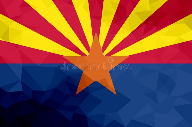 Bandera poligonal de Arizona Fondo moderno del mosaico Diseño geométrico libre illustration
