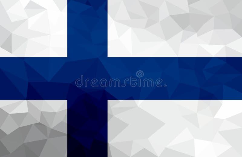 Bandera poligonal de Finlandia Fondo moderno del mosaico Diseño geométrico libre illustration