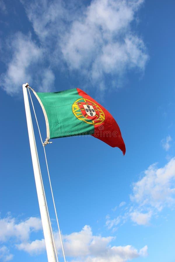 Bandera portuguesa fotografía de archivo libre de regalías