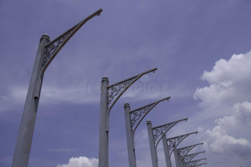 Bandera postes del acero estructural fotografía de archivo libre de regalías
