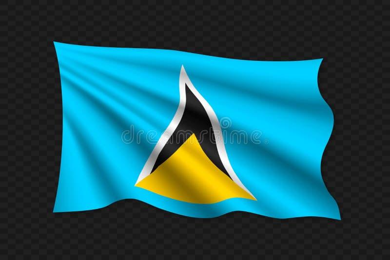 bandera que agita 3D ilustración del vector