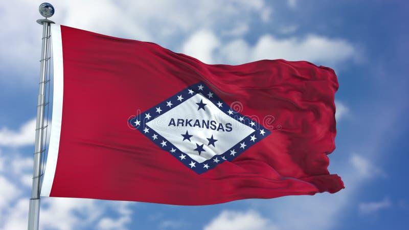 Bandera que agita de Arkansas fotos de archivo libres de regalías