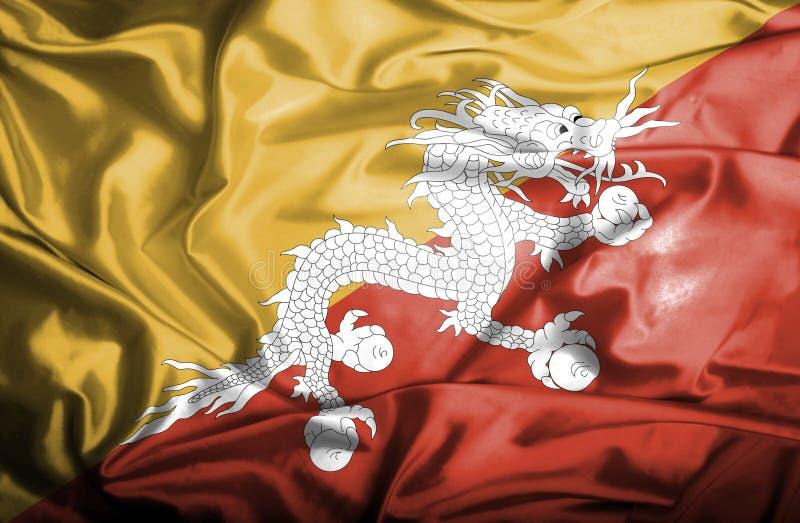 Bandera que agita de Bhut?n libre illustration