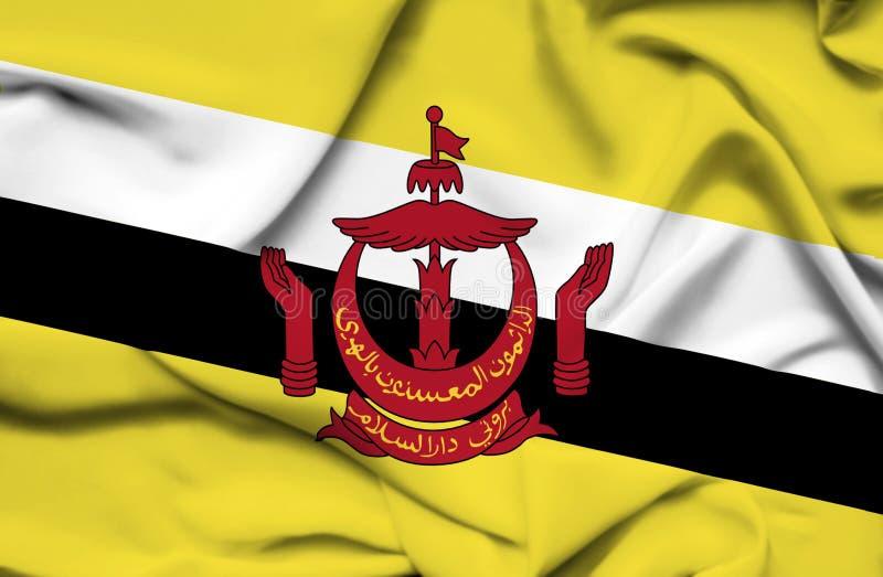 Bandera que agita de Brunei libre illustration