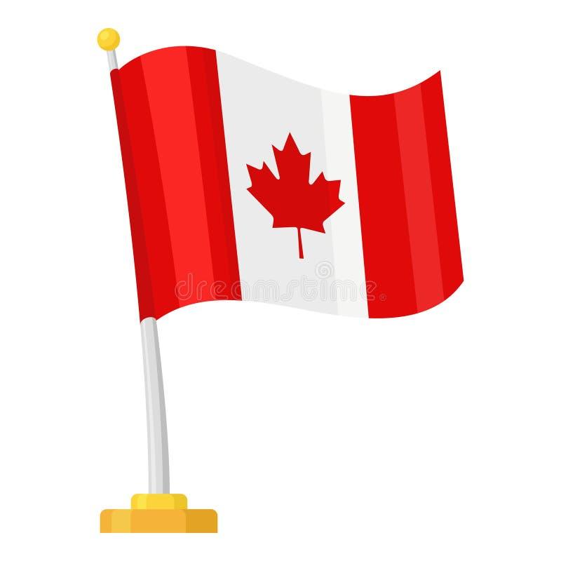 Bandera que agita de Canadá ilustración del vector