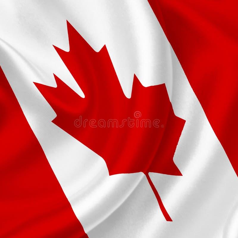 Bandera que agita de Canad? ilustración del vector