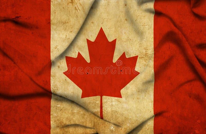 Bandera que agita de Canad? stock de ilustración