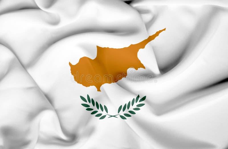 Bandera que agita de Chipre libre illustration