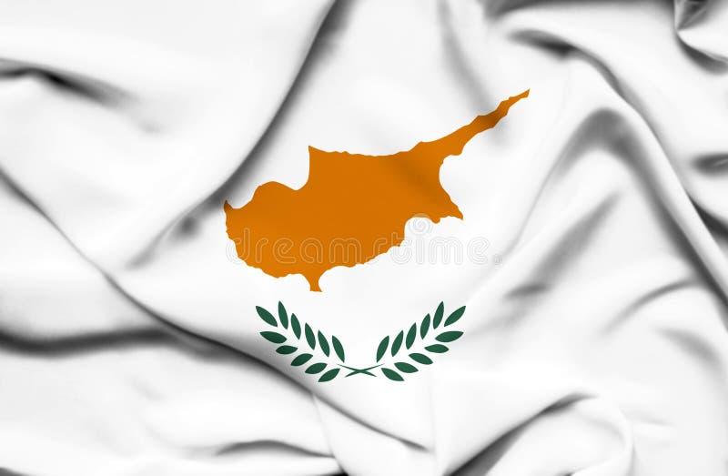 Bandera que agita de Chipre ilustración del vector