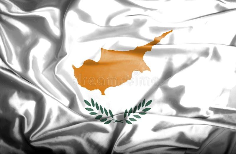 Bandera que agita de Chipre stock de ilustración