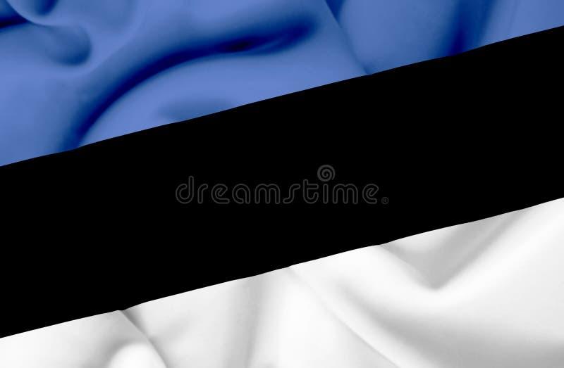 Bandera que agita de Estonia stock de ilustración