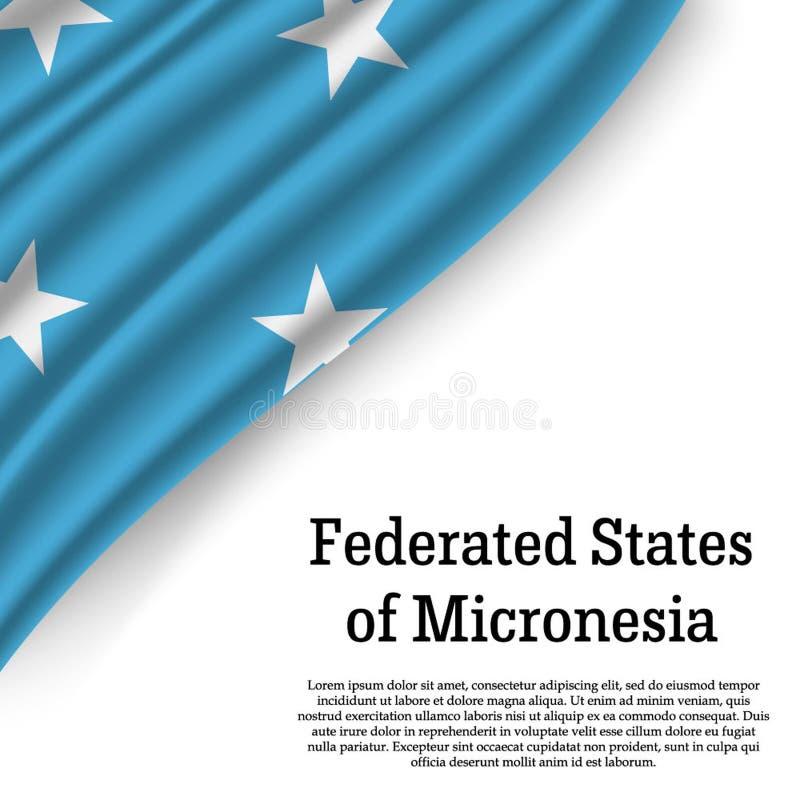 bandera que agita de Federated States of Micronesia ilustración del vector