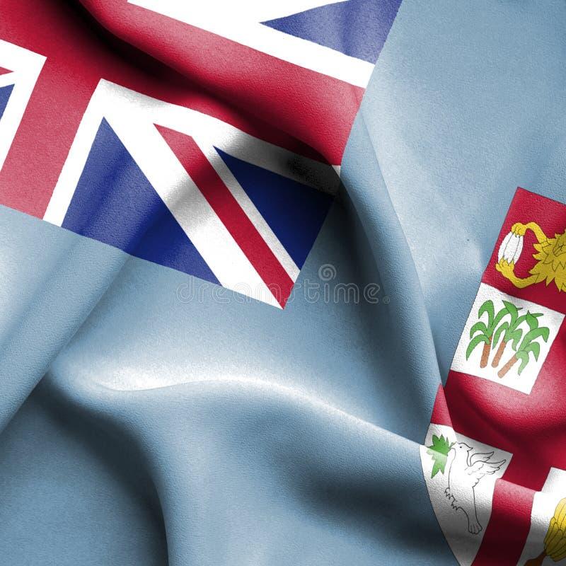 Bandera que agita de Fiji ilustración del vector